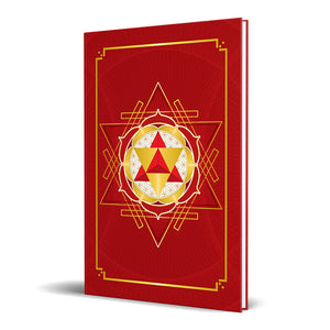 "Merkaba Star Tetrahedron Hardcover Journal (Red) 7.125"" x 10.25"" Blank, Lined, Graph, or Dot Grid"