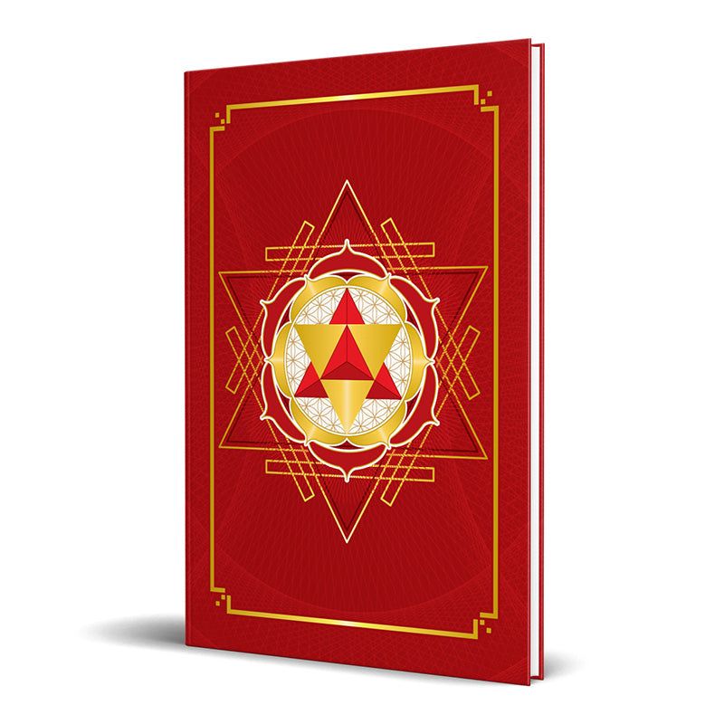 Merkaba Star Tetrahedron Hardcover Journal (Red) 7.125