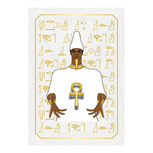 "Load image into Gallery viewer, Ausar Osiris Kemetic Egyptian Softcover Notebook Journal 7"" x 10"" Blank, Lined, Graph, or Dot Grid"