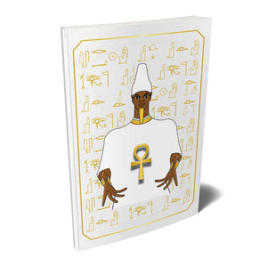 "Ausar Osiris Kemetic Egyptian Softcover Notebook Journal 7"" x 10"" Blank, Lined, Graph, or Dot Grid"