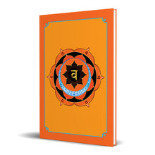 "Load image into Gallery viewer, Sacral Chakra Hardcover Journal 7.125"" x 10.25"" Blank, Lined, Graph, or Dot Grid"