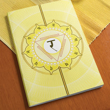 "Load image into Gallery viewer, Solar Chakra Softcover Notebook Journal 7"" x 10"" Blank, Lined, Graph, or Dot Grid"