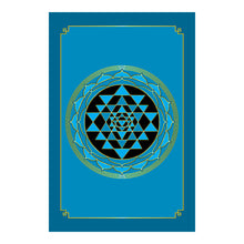 "Load image into Gallery viewer, Sri Yantra Hardcover Journal (Cyan) 7.125"" x 10.25"" Blank, Lined, Graph, or Dot Grid"