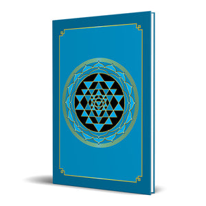 "Sri Yantra Hardcover Journal (Cyan) 7.125"" x 10.25"" Blank, Lined, Graph, or Dot Grid"