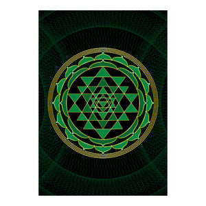 "Sri Yantra Softcover Notebook Journal (Green) 7"" x 10"" Blank, Lined, Graph, or Dot Grid"