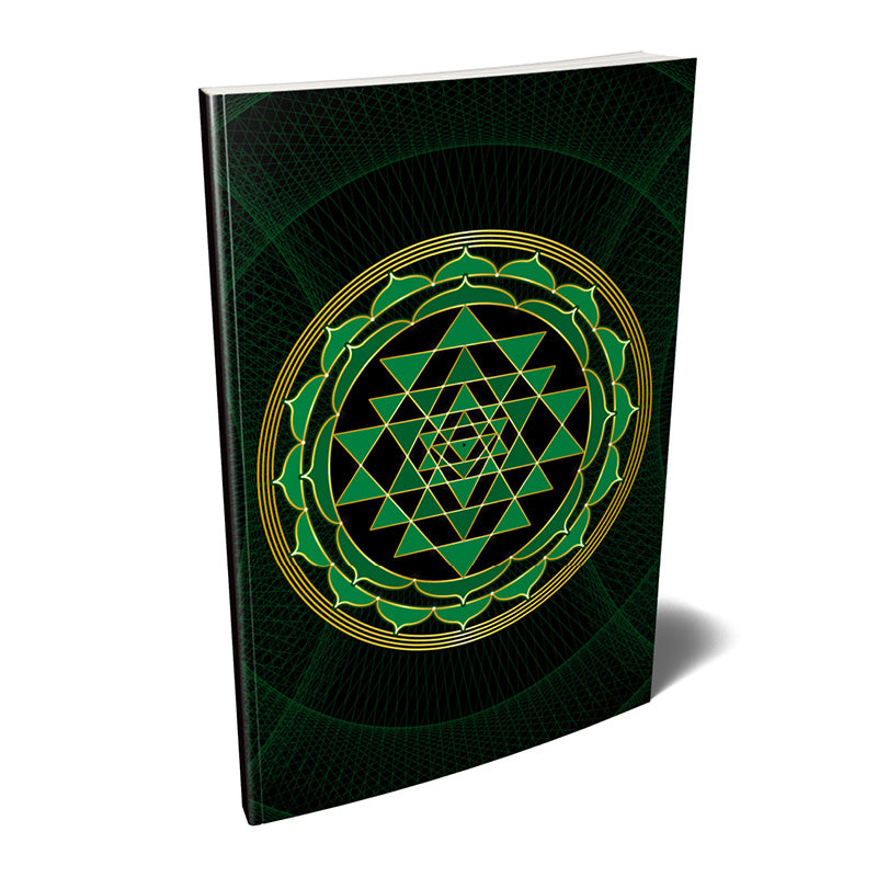 Sri Yantra Softcover Notebook Journal (Green) 7