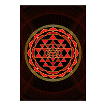 "Load image into Gallery viewer, Sri Yantra Softcover Notebook Journal (Red) 7"" x 10"" Blank, Lined, Graph, or Dot Grid"