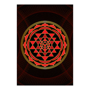 "Sri Yantra Softcover Notebook Journal (Red) 7"" x 10"" Blank, Lined, Graph, or Dot Grid"