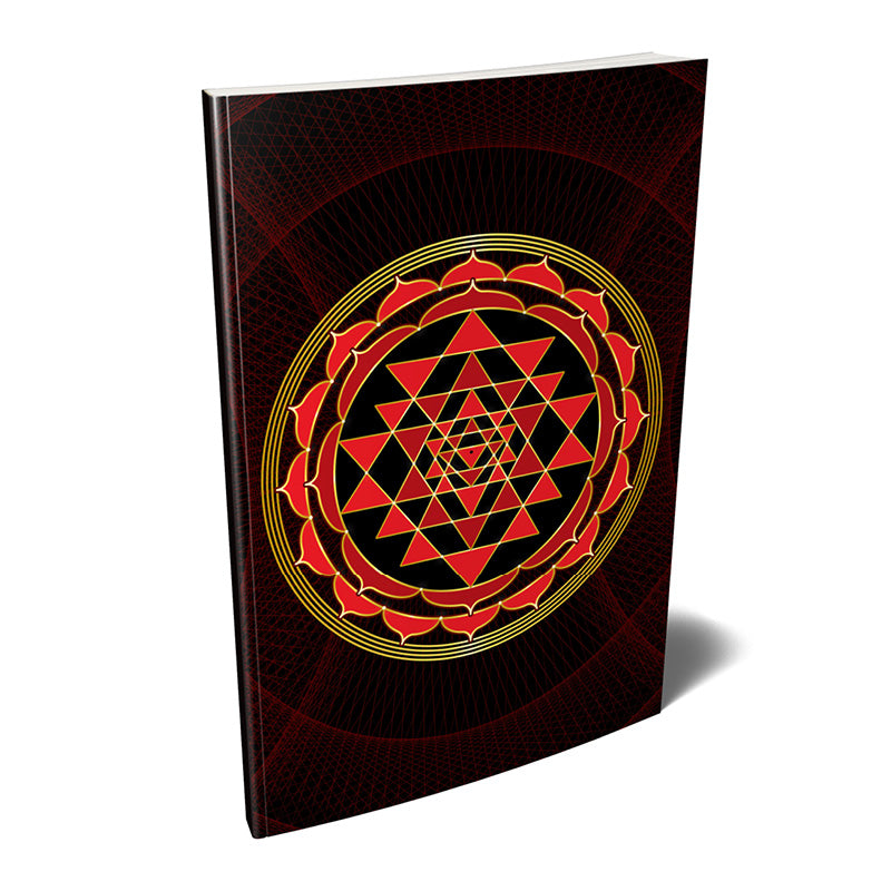 Sri Yantra Softcover Notebook Journal (Red) 7