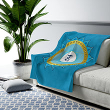 Load image into Gallery viewer, Throat Chakra Velveteen Plush Blanket