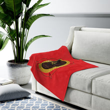 Load image into Gallery viewer, Root Chakra Velveteen Plush Blanket