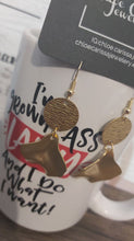 Charger l'image dans la galerie, Handmade Brass Dangles. Style: Layered