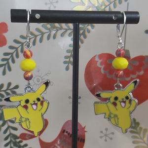 Handmade Pikachu Earrings.