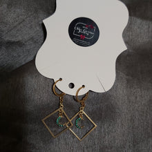 Charger l'image dans la galerie, Handmade Moon Earrings. Style: Holiday Nights