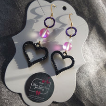 Load image into Gallery viewer, Handmade Heart Dangles. Style: Lovely Hues