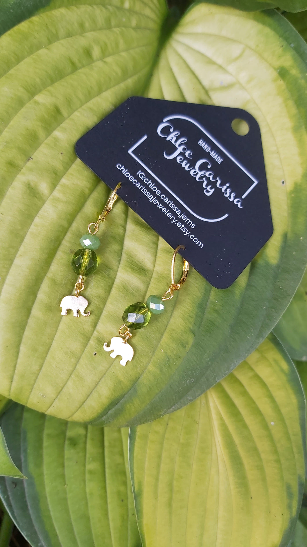 Handmade Elephant Dangles. Style: Keep calm and elephant on