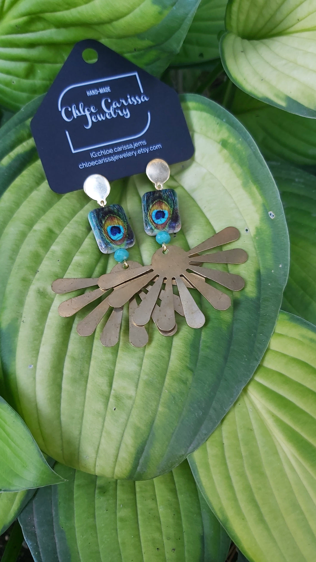 Handmade Peacock Earrings. Style: Peacock dreams