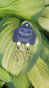 Handmade Birth Year Earrings. Style: Heart years (88)