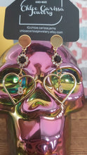 Load image into Gallery viewer, Handmade Birth Year Earrings. Style: Heart years (86)
