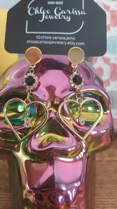 Handmade Birth Year Earrings. Style: Heart years (86)