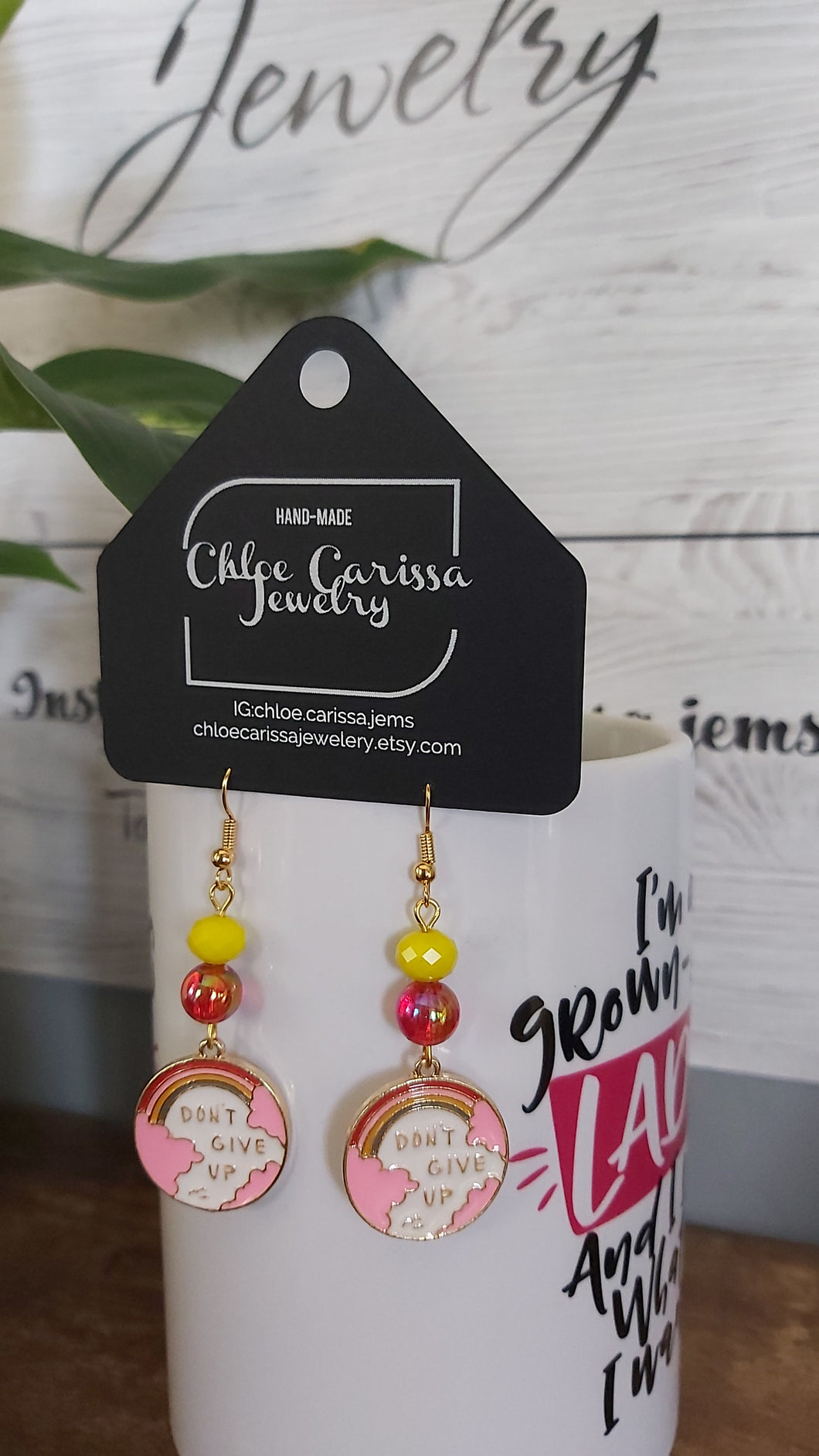 Handmade Motivational Earrings. Style: You got this