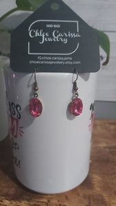 Handmade Gem Earrings. Style: Fuchsiaristic