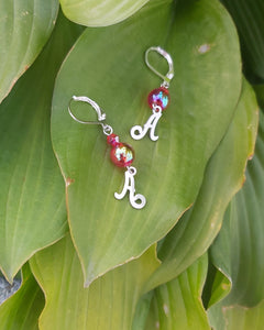 Handmade Initial Earrings. Style: Initially (A)
