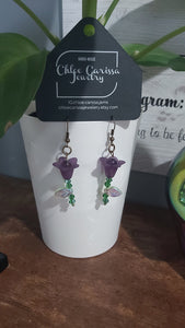 Handmade Beaded Flower Earrings. Style: Lucitely
