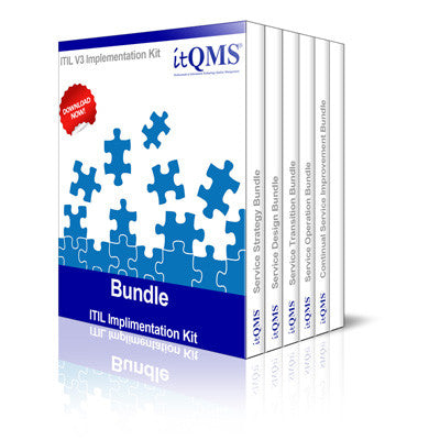 ITIL Bundles - Complete ITIL V3 2011 Implementation Kit Bundle Set