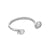RHODIUM ORBIT BANGLE