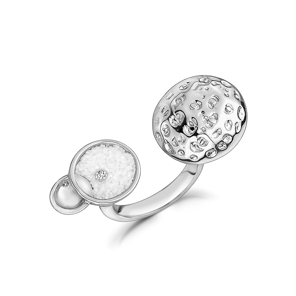 RHODIUM ORBIT RING