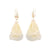 GOLD SEA & SAND EARRINGS IVORY FLOWER