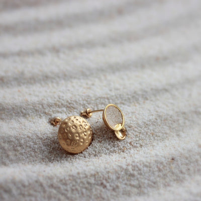GOLD LITTLE MOON EARRINGS