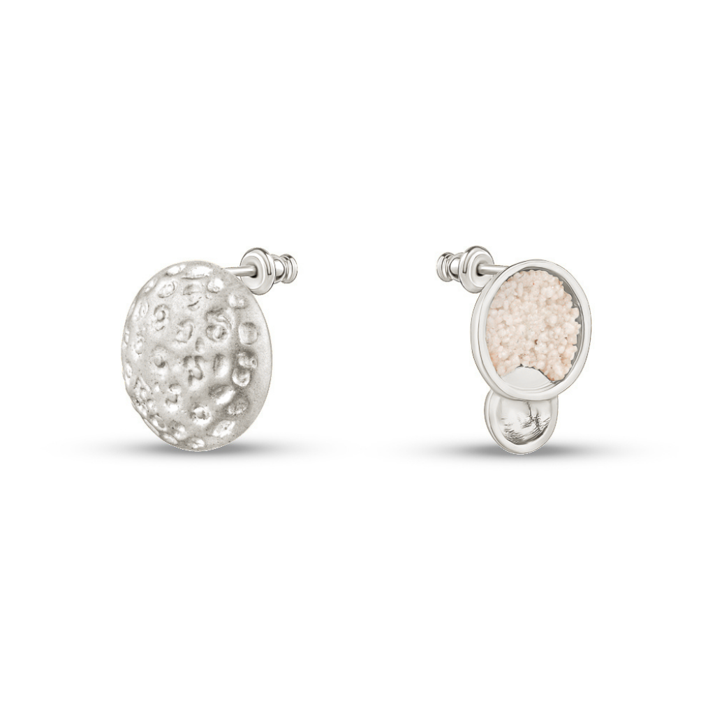 RHODIUM LITTLE MOON EARRINGS