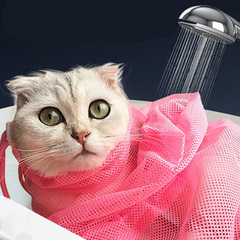 Mesh Cat Bathing Bag