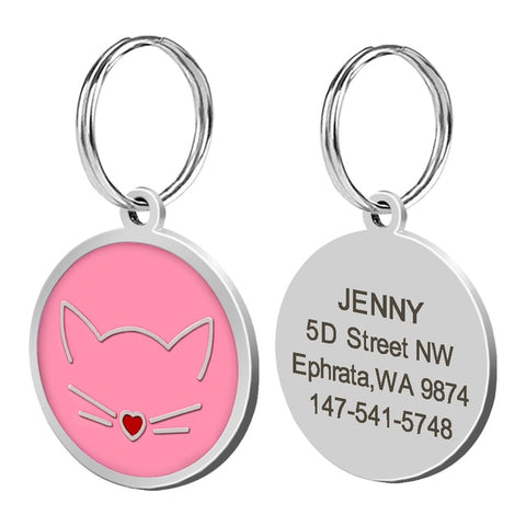 Personalized Cat Name Tag