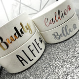 Personalized Pet Name Bowls