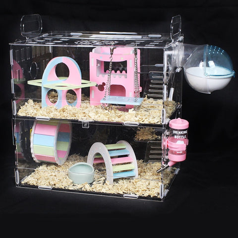 Transparent Double-layer Hamster House
