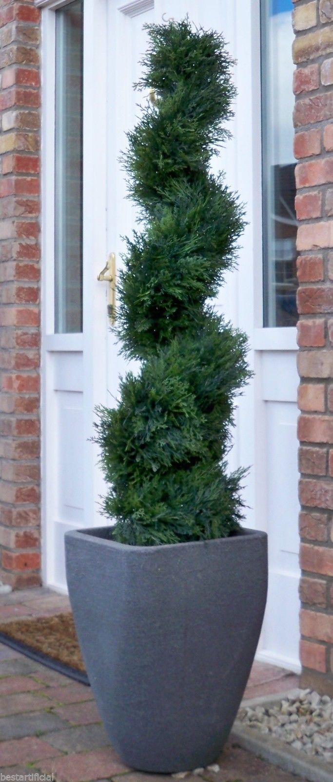 Best Artificial 4ft - 120cm Cedar Spiral Conifer Topiary Tree