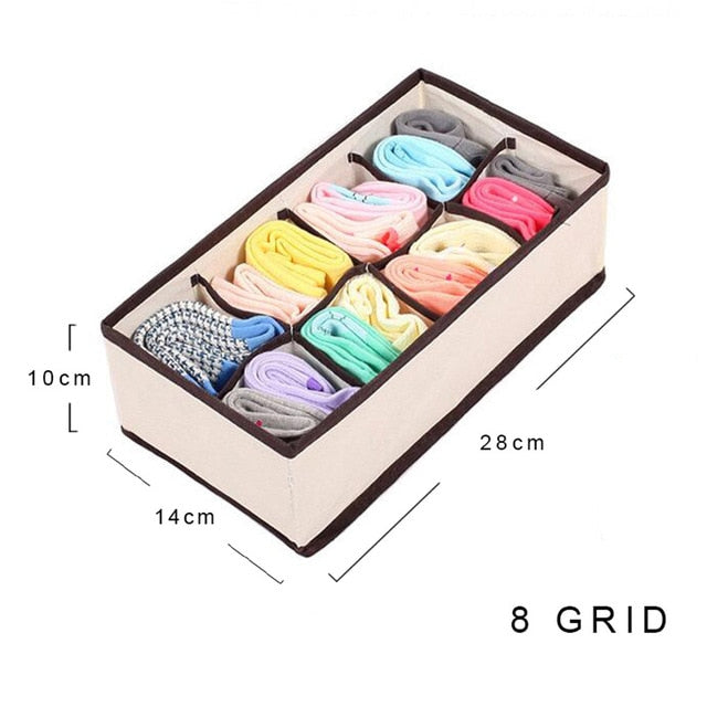 Multi Size Organizer for Storage Box For Ties, Socks and Bra