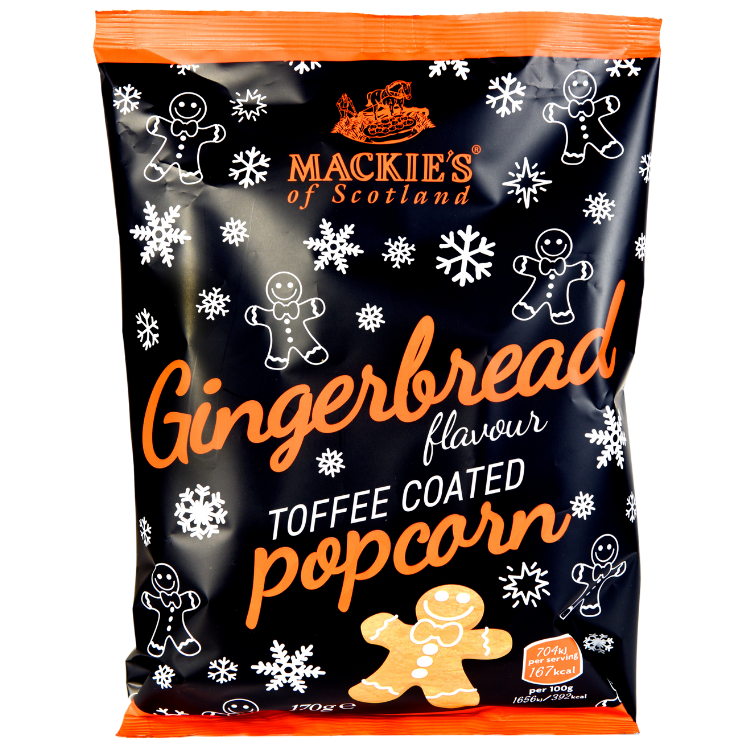 Mackie's of Scotland Gingerbread Popcorn