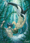 Watercolor Mermaid MakoHaru Print