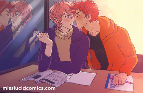 Asakisu Study Date Print - Free! Dive to the Future