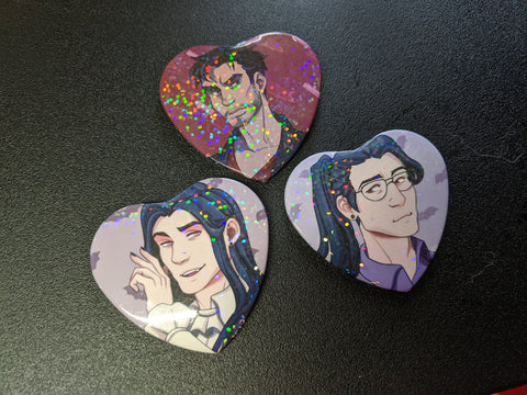 Dream Daddy Heart Buttons