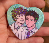 Haikyuu Heart Buttons