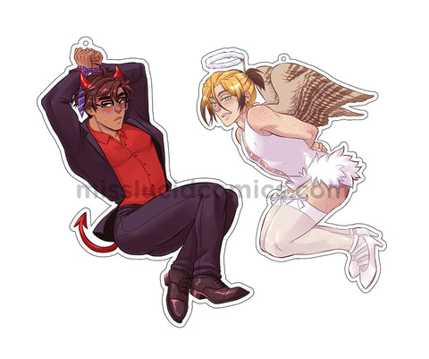 Avialae - Angel and Devil Headphone Wrap Keychain - Gannet and Bailey