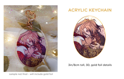 Patreon/KS Preorder: 3D Gold Foil Avialae Keychain