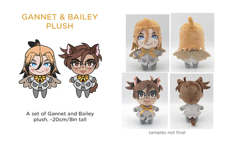 Patreon/KS Preorder: Gannet and Bailey Plush