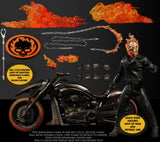 ( Pre Order ) MEZCO Ghost Rider and Hell Cycle One:12 Collective Action Figure Set