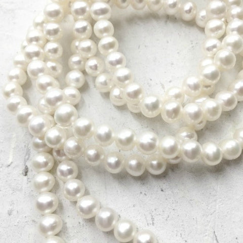 Continuous 5mm Round Pearl Necklace